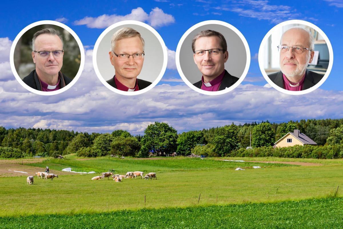 Piispat ottivat kantaa maatalousyrittäjien puolesta  arkkipiispa Tapio...